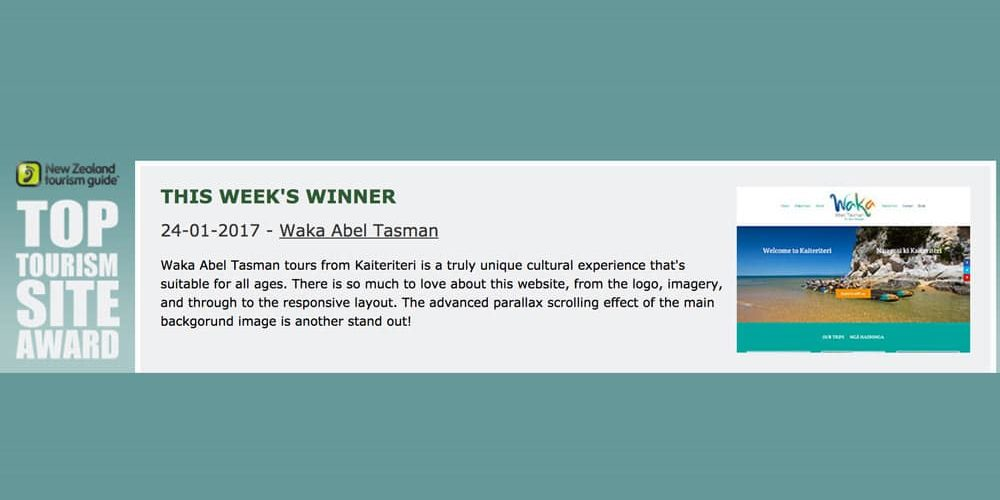 Waka Abel Tasman wins Tourism Award